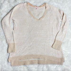 Victoria's Secret Cream Oversize Boxy Knit Sweater